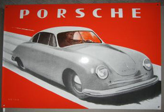 Porsche sign, Factory issued around 1998, in an edition of 500